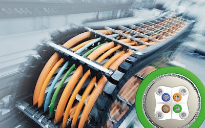 Industrial Ethernet Cat 6A for trailing applications