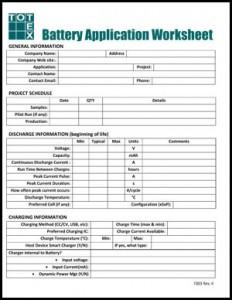 TOTEX Battery Worksheet